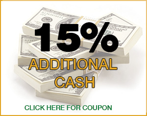 recieve an additional 15% for your gold and silver